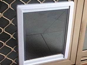 large cat door for security screen door