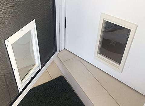 Medium Dog Door For Timber And Screen Door Combo Sydney