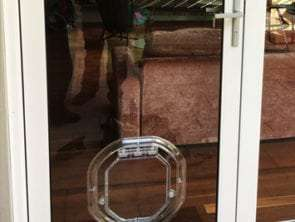 medium dog door for glass door