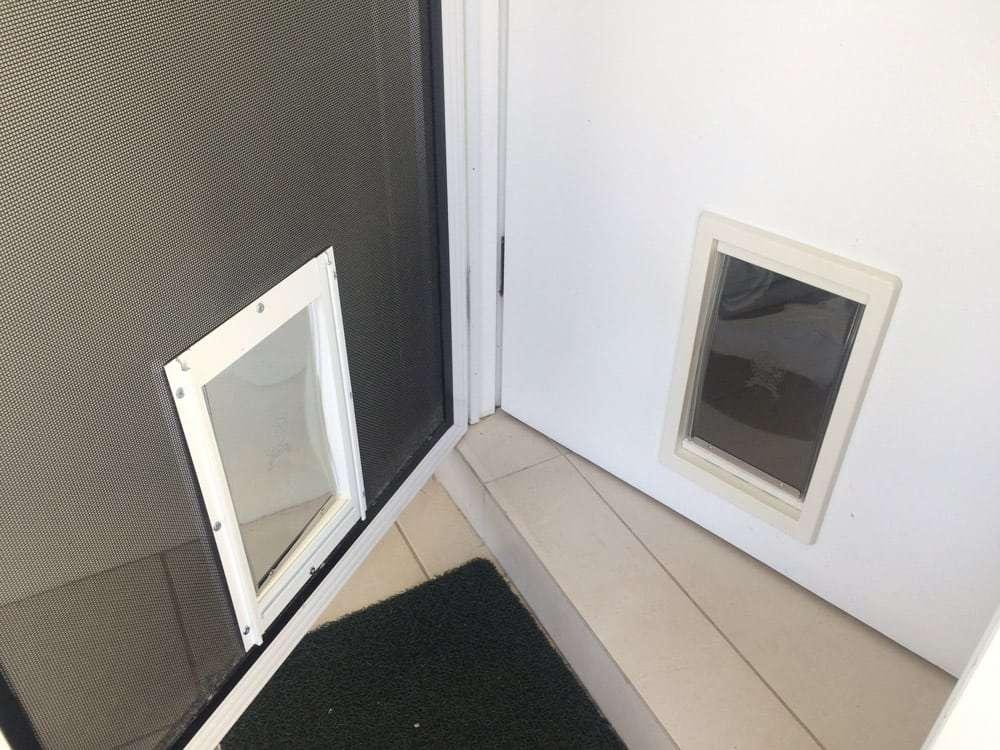 Large Pet Doors for Timber and Screen Door Combo