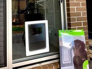 large dog door for glass door